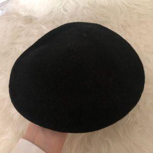 VTG Basque Black Wool Beret